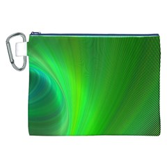 Green Background Abstract Color Canvas Cosmetic Bag (xxl)