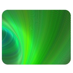 Green Background Abstract Color Double Sided Flano Blanket (medium)