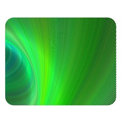 Green Background Abstract Color Double Sided Flano Blanket (large)