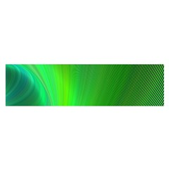 Green Background Abstract Color Satin Scarf (oblong)