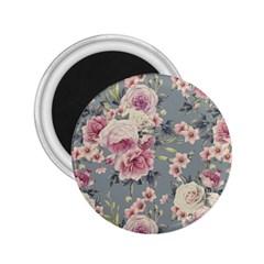 Pink Flower Seamless Design Floral 2 25  Magnets