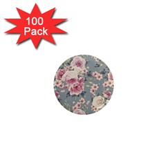 Pink Flower Seamless Design Floral 1  Mini Magnets (100 Pack)