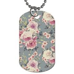 Pink Flower Seamless Design Floral Dog Tag (one Side)