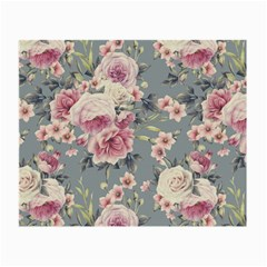 Pink Flower Seamless Design Floral Small Glasses Cloth