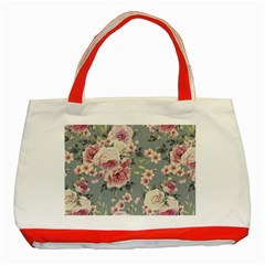 Pink Flower Seamless Design Floral Classic Tote Bag (red)