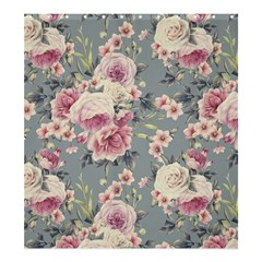 Pink Flower Seamless Design Floral Shower Curtain 66  X 72  (large)