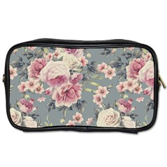 Pink Flower Seamless Design Floral Toiletries Bags