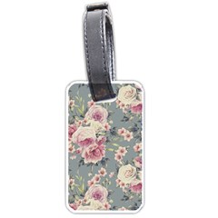 Pink Flower Seamless Design Floral Luggage Tags (two Sides)
