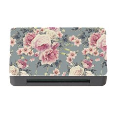 Pink Flower Seamless Design Floral Memory Card Reader With Cf