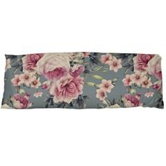 Pink Flower Seamless Design Floral Body Pillow Case (dakimakura)