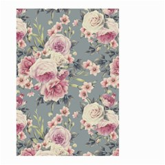 Pink Flower Seamless Design Floral Small Garden Flag (two Sides)