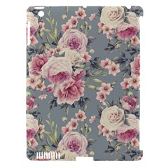 Pink Flower Seamless Design Floral Apple Ipad 3/4 Hardshell Case (compatible With Smart Cover)