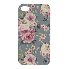Pink Flower Seamless Design Floral Apple Iphone 4/4s Premium Hardshell Case