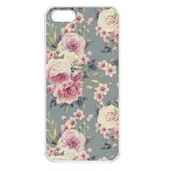 Pink Flower Seamless Design Floral Apple Iphone 5 Seamless Case (white)