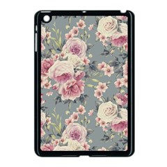 Pink Flower Seamless Design Floral Apple Ipad Mini Case (black)