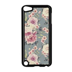 Pink Flower Seamless Design Floral Apple Ipod Touch 5 Case (black)