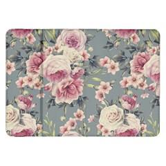 Pink Flower Seamless Design Floral Samsung Galaxy Tab 8 9  P7300 Flip Case