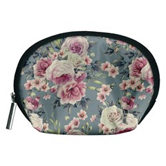 Pink Flower Seamless Design Floral Accessory Pouches (medium)