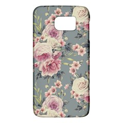 Pink Flower Seamless Design Floral Galaxy S6
