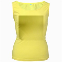 White Background Abstract Light Women s Yellow Tank Top