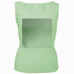 White Background Abstract Light Women s Green Tank Top