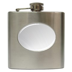 White Background Abstract Light Hip Flask (6 Oz)