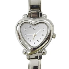 White Background Abstract Light Heart Italian Charm Watch