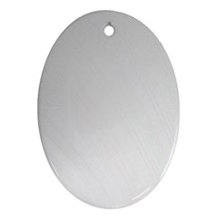 White Background Abstract Light Oval Ornament (two Sides)
