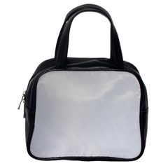 White Background Abstract Light Classic Handbags (one Side)
