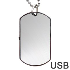 White Background Abstract Light Dog Tag Usb Flash (one Side)