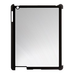 White Background Abstract Light Apple Ipad 3/4 Case (black)