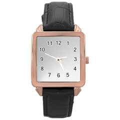 White Background Abstract Light Rose Gold Leather Watch