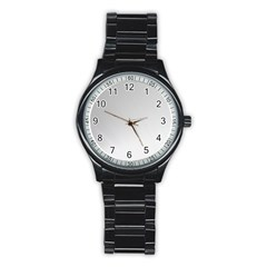 White Background Abstract Light Stainless Steel Round Watch