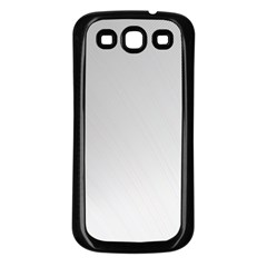 White Background Abstract Light Samsung Galaxy S3 Back Case (black)
