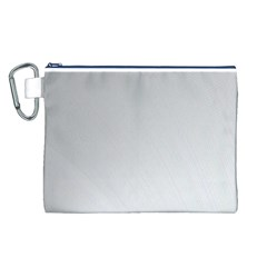 White Background Abstract Light Canvas Cosmetic Bag (l)