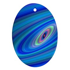 Oval Ellipse Fractal Galaxy Ornament (oval)