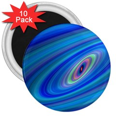 Oval Ellipse Fractal Galaxy 3  Magnets (10 Pack)