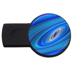Oval Ellipse Fractal Galaxy Usb Flash Drive Round (2 Gb)