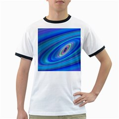Oval Ellipse Fractal Galaxy Ringer T Shirts