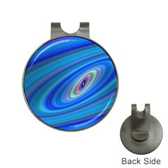 Oval Ellipse Fractal Galaxy Hat Clips With Golf Markers