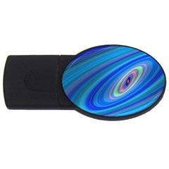 Oval Ellipse Fractal Galaxy Usb Flash Drive Oval (4 Gb)