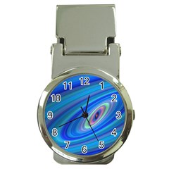 Oval Ellipse Fractal Galaxy Money Clip Watches
