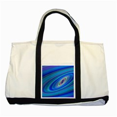 Oval Ellipse Fractal Galaxy Two Tone Tote Bag