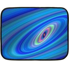 Oval Ellipse Fractal Galaxy Double Sided Fleece Blanket (mini)