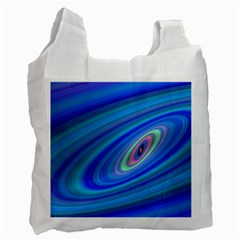 Oval Ellipse Fractal Galaxy Recycle Bag (two Side)
