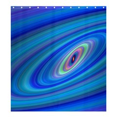 Oval Ellipse Fractal Galaxy Shower Curtain 66  X 72  (large)