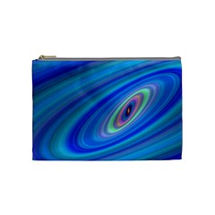 Oval Ellipse Fractal Galaxy Cosmetic Bag (medium)