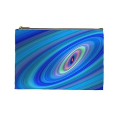 Oval Ellipse Fractal Galaxy Cosmetic Bag (large)