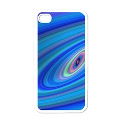 Oval Ellipse Fractal Galaxy Apple Iphone 4 Case (white)