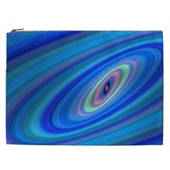 Oval Ellipse Fractal Galaxy Cosmetic Bag (xxl)